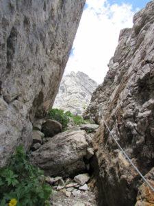 Sentiero attrezzato sotto il Chiadenis