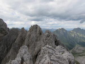 Vista dalla cima del Chiadenis
