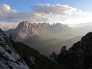 vista del monte Lastroni dal Peralba
