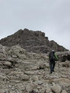 verso la vetta della cima Piscadù