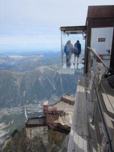 Terazza panoramica in vetro: le pas dans le vide