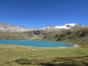 vista sul Plateau Rosà dal lago Goillet